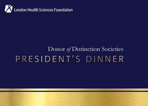 Donor of Distinction Societies Presidents Dinner