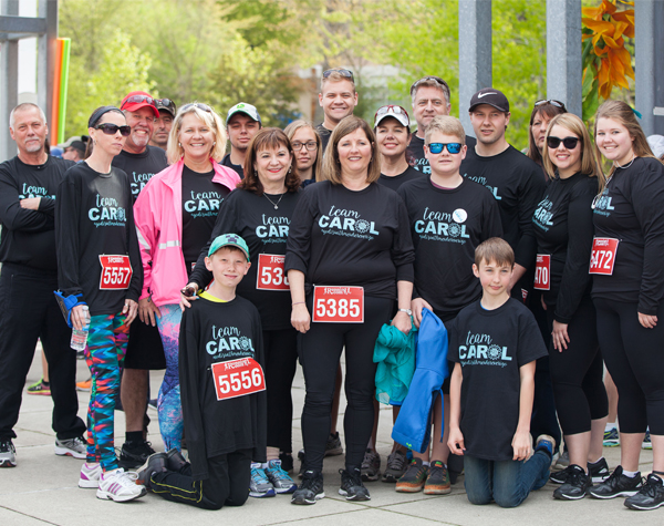 Carol Regts at Run for Ovarian Cancer