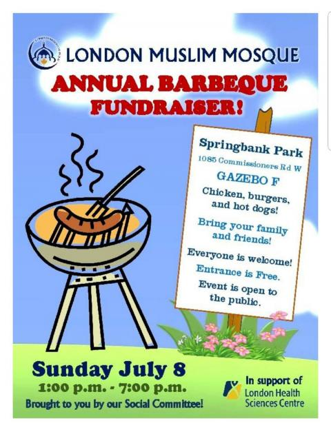 London Muslim Mosque Barbeque